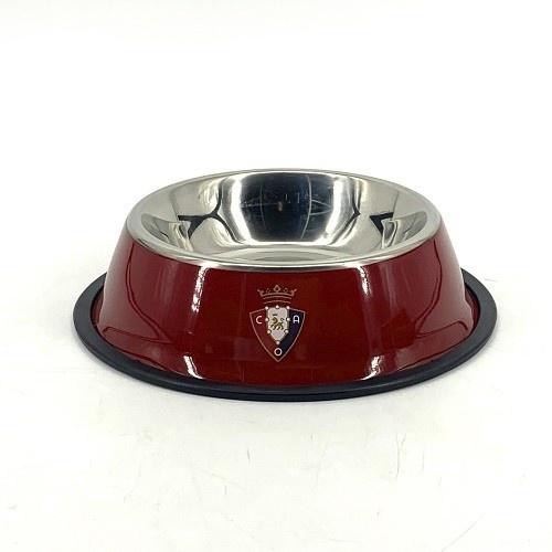 Comedero-bebedero para mascotas escudo Osasuna  color Rojo