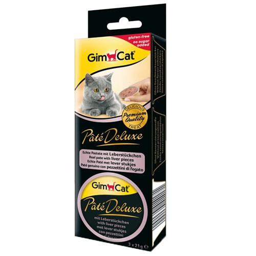 Comida húmeda con hígado para gatos Paté Deluxe GimCat