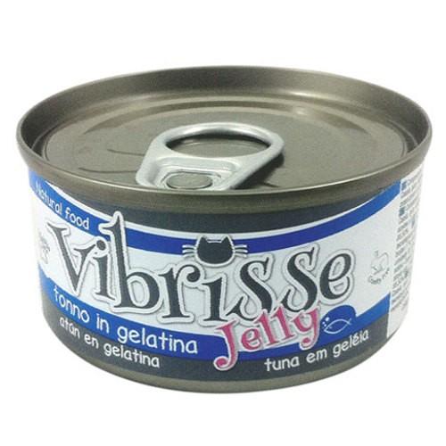 Comida húmeda natural de atún en gelatina Vibrisse gato