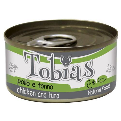 Comida húmeda natural de pollo y atún Tobias perro