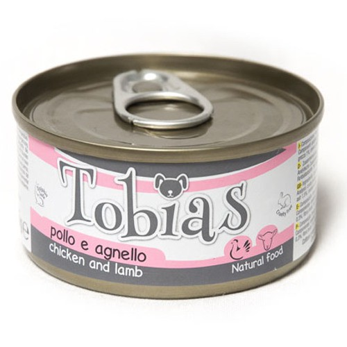 Comida húmeda natural de pollo y cordero Tobias perro
