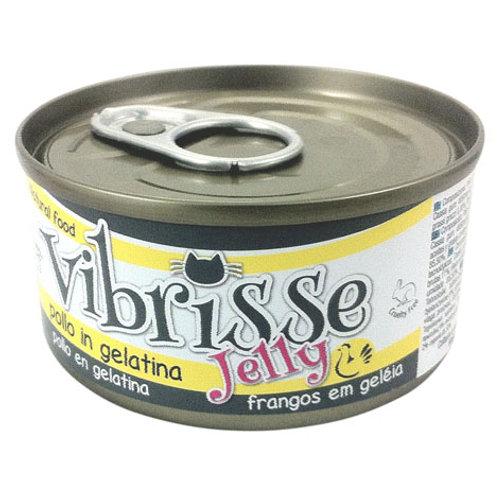 Comida húmeda natural de pollo en gelatina Vibrisse gato