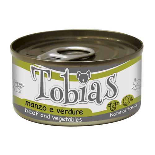 Comida húmeda natural de ternera y verduras Tobias perro
