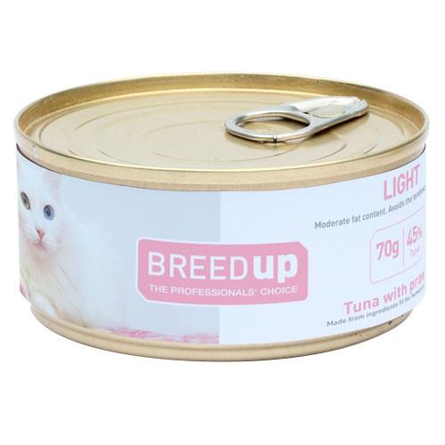 Comida húmeda para gatos Breed Up Light de atún con gambas