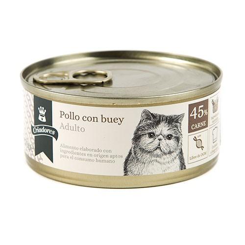 Comida húmeda para gatos Criadores Adulto de pollo con buey