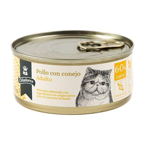 Comida húmeda para gatos Criadores Adulto de pollo con conejo