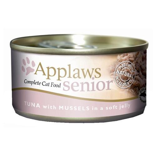 Comida húmeda para gatos mayores Applaws Senior atún y mejillón