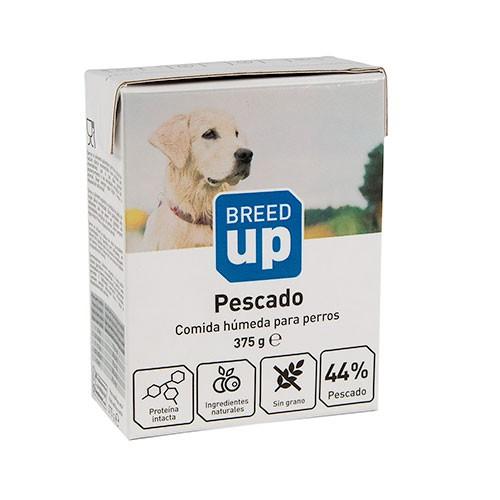 Comida húmeda para perros Breed Up con sabor a pescado