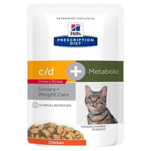 Comida húmeda Hill´s PD Feline c/d Urinary Stress + Metabolic para gatos