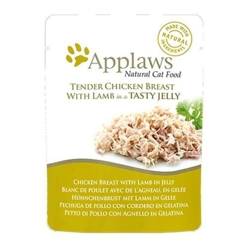 Comida húmeda para gatos Applaws Jelly Pouch pollo y cordero