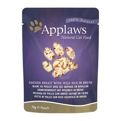 Comida húmeda para gatos Applaws Pouch pollo y arroz salvaje