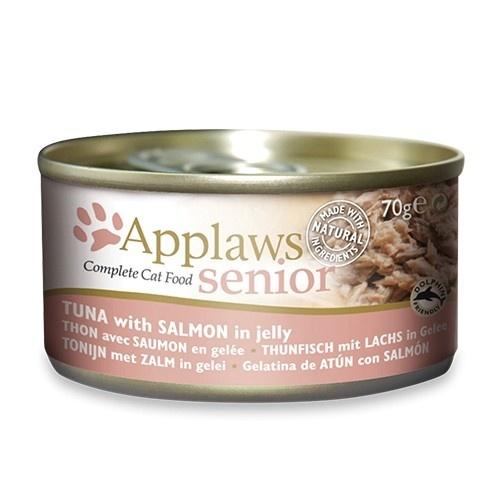 Comida húmeda para gatos mayores Applaws Senior atún y salmón