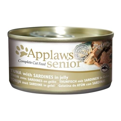 Comida húmeda para gatos mayores Applaws Senior atún y sardina