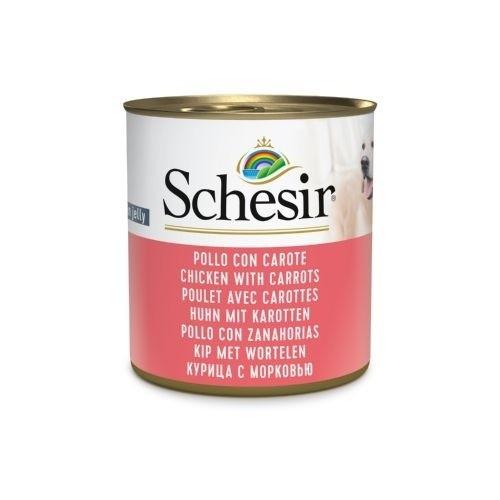 Comida húmeda Schesir pollo con zanahorias