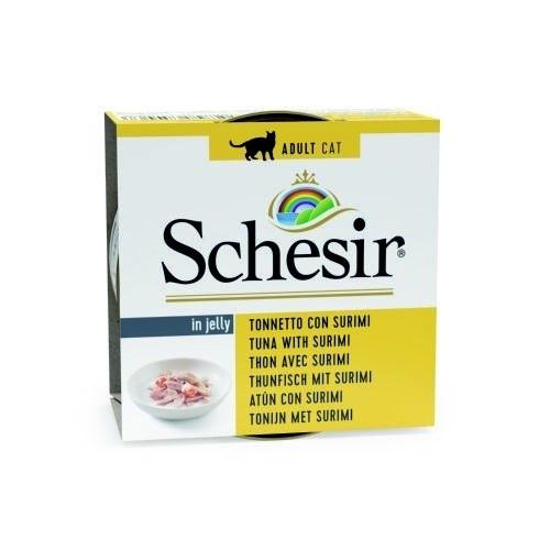 Comida húmeda Schesir atún con surimi
