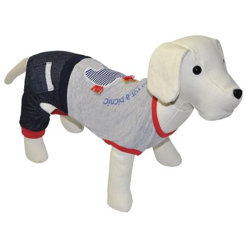 Conjunto de ropa para perros casual jeans
