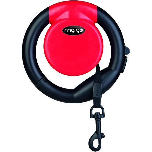 Correa extensible para perros Ring Go roja