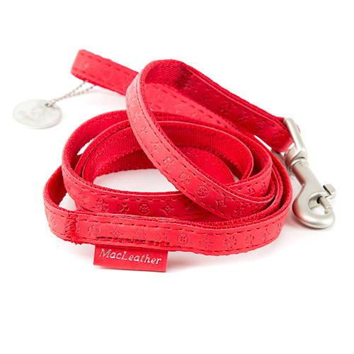 Correa para perros MacLeather Classic Color Rojo