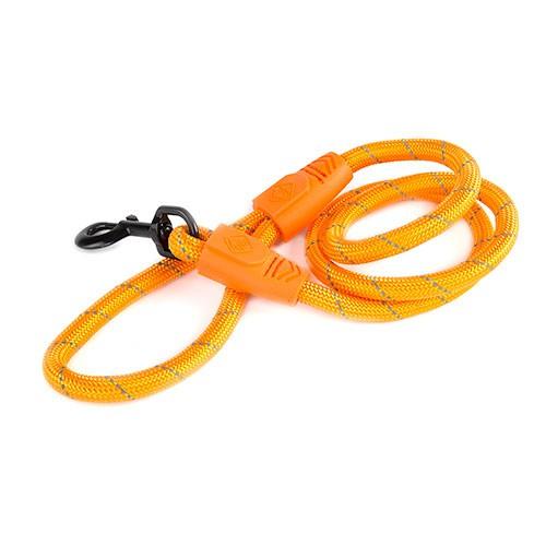 Correa para perros de nylon redondo TK-Pet Reflective Rope naranja