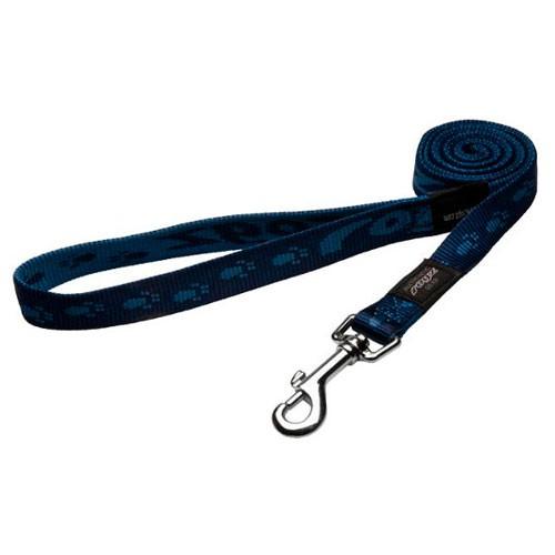 Correa para perros Rogz Alpinist azul con letras estampadas