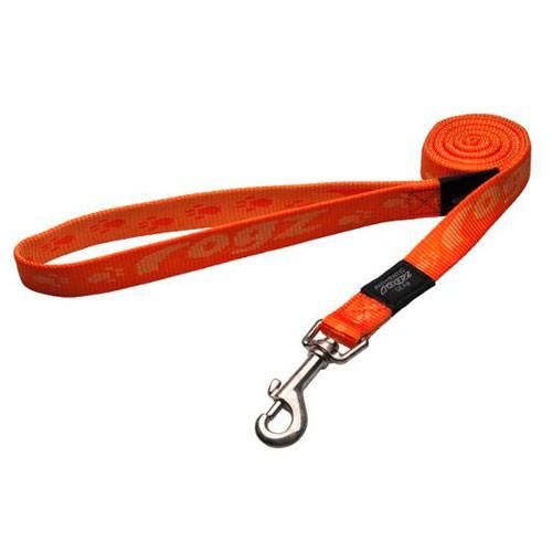 Correa para perros Rogz Alpinist naranja con letras estampadas