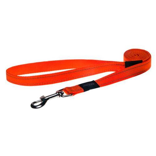 Correa para perros Rogz Utility naranja con costura reflectante
