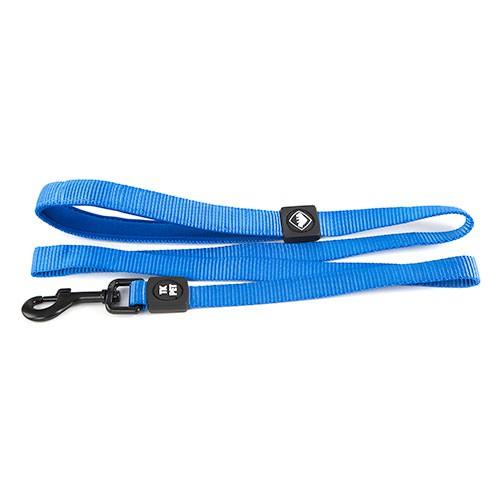 Correa para perros TK-Pet Neo Classic azul de nylon y neopreno