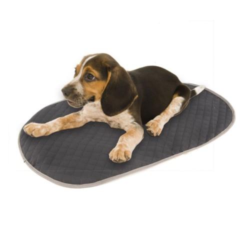 Cubrecama gris para cama ortopédica para perros TK-Pet ovalada