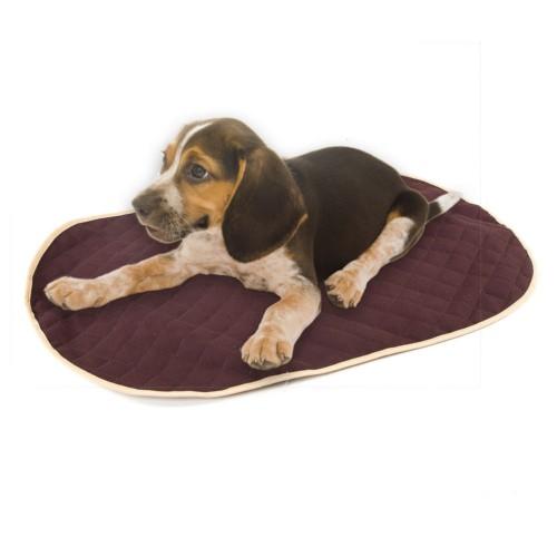 Cubrecama marrón para cama ortopédica para perros TK-Pet ovalada