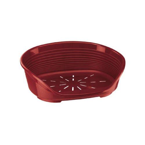 Cuna de plástico Siesta deluxe para perros pequeños y medianos Color Granate