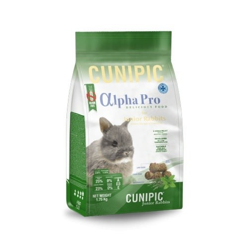 Cunipic Alpha Pro Junior pienso para conejos Grain Free