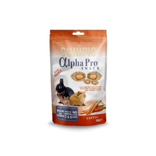 Cunipic Alpha Pro Snack Carrot para roedores y conejos