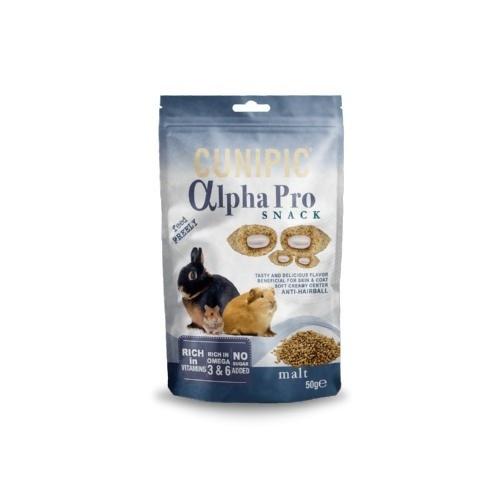 Cunipic Alpha Pro Snack Malta para roedores y conejos