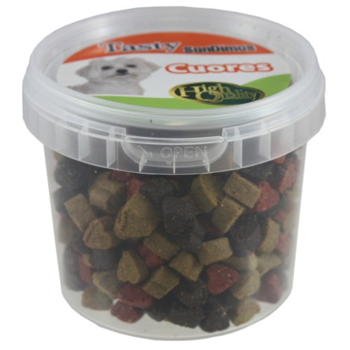 Cuores Corazones tricolores jugosos snack para perros