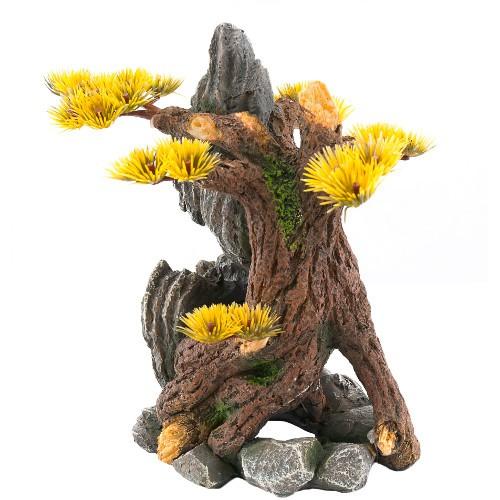 Decoración para acuarios árbol con roca Koshi