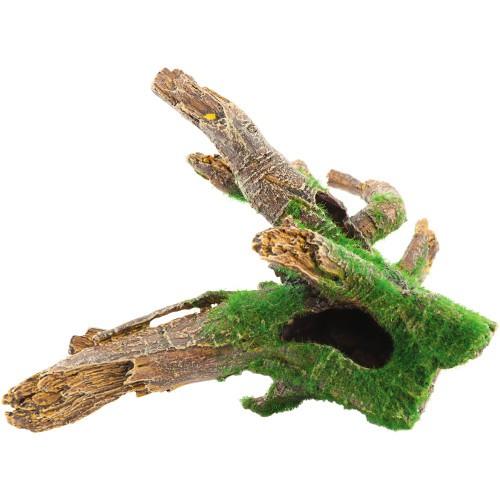 Decoración para acuarios raíz Manglar con musgo