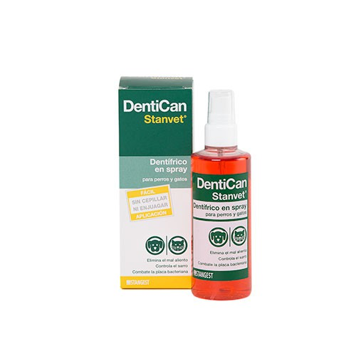 Spray dentífrico Dentican para mascotas