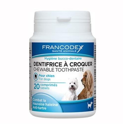 Dentífrico para perros en pastillas masticables Francodex