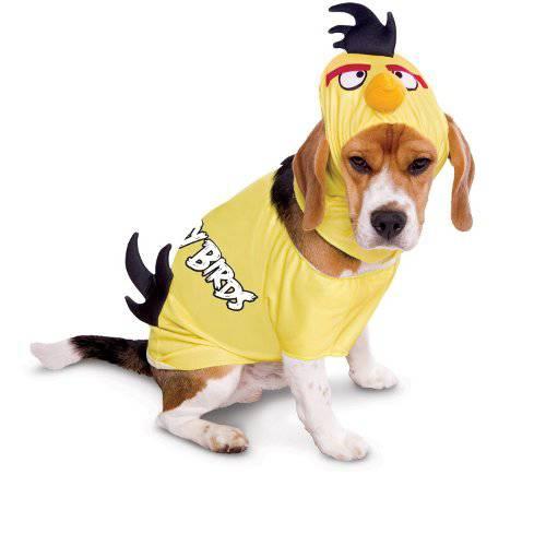 Angry Birds Disfraz pájaro amarillo para perros