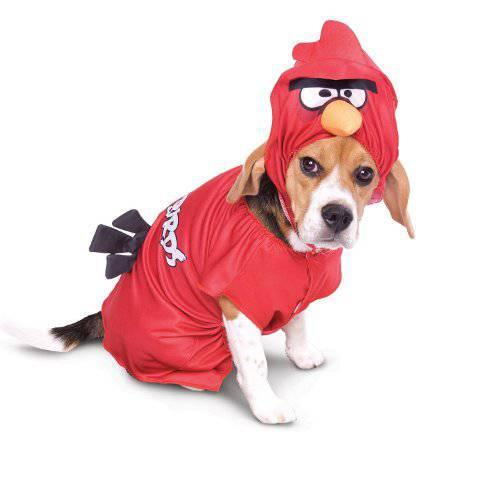 Angry Birds Disfraz pájaro rojo para perros