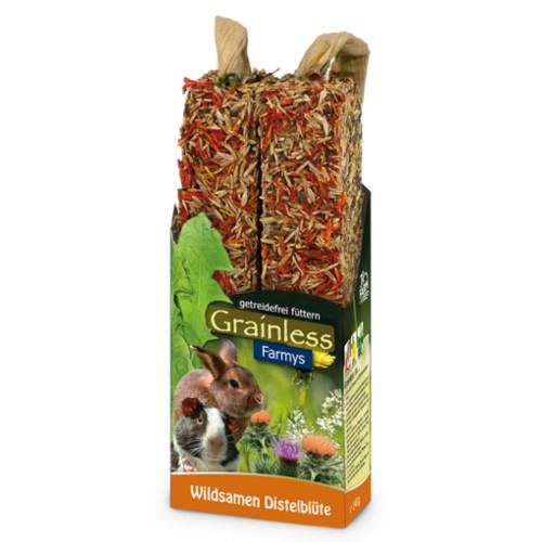JR Farm Grainless Farmys barritas con flor de cardo para roedores y conejos