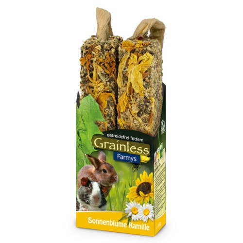 JR Farm Grainless Farmys barritas light con girasol para roedores y conejos
