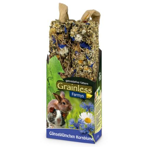 JR Farm Grainless Farmys barritas con margarita para roedores y conejos