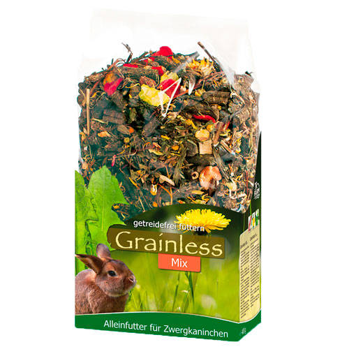 JR Farm Grainless Mix de hierbas para conejos enanos