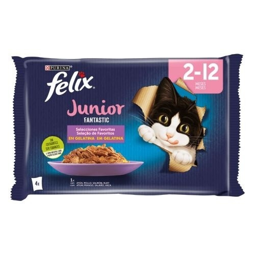 Felix Fantastic Junior multipack Grill in jelly for cats