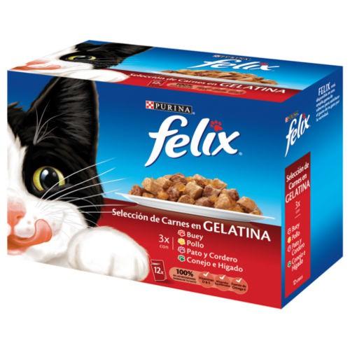 Felix Selección de carnes en gelatina multipack para gatos