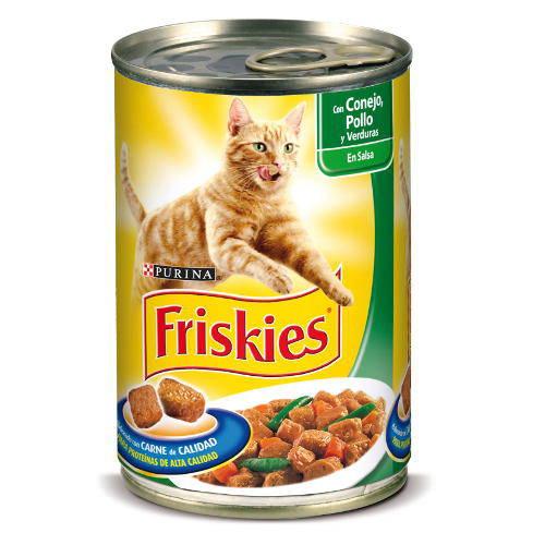 Friskies Adulto Conejo, Pollo y Verduras en Salsa para gatos