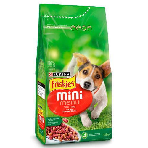 Friskies Adult Mini Menu Buey Pienso para perros pequeños