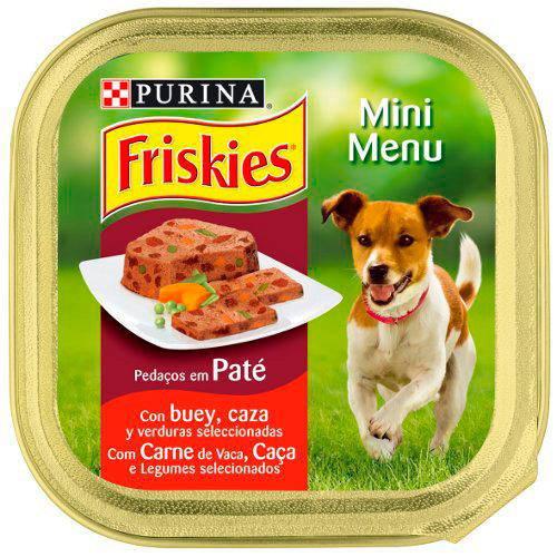 Friskies Mini menu Buey Paté con trozos comida para perros