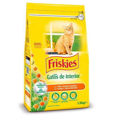 Friskies gato adulto de interior control bolas de pelo